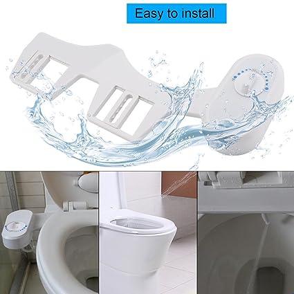 Asiento Bidé Pulverizador Boquilla retráctil autolimpiante Boquilla no eléctrica WC Bidet Accesorio de asiento de inodoro