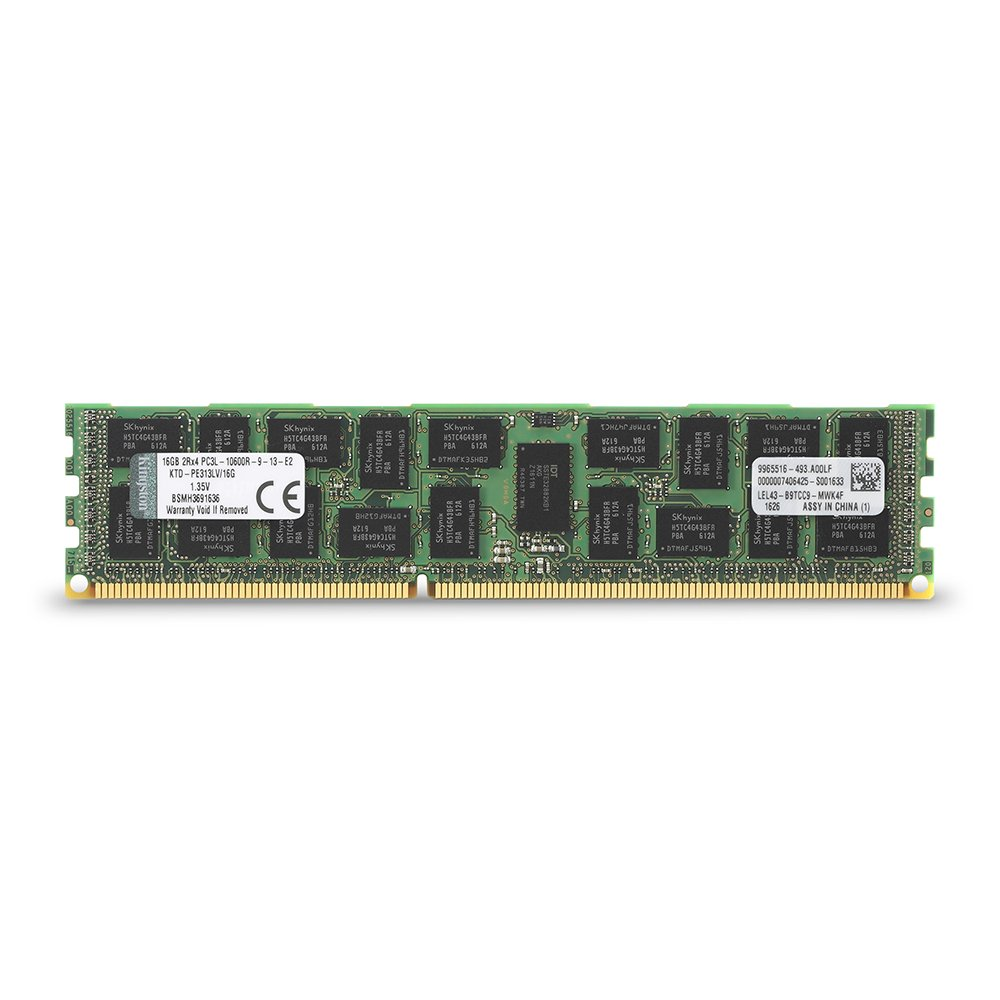 Memoria Ram 16gb Kingston Technology 1333mhz Reg Ecc Low Voltage Modulo Para Dell (ktd-pe313lv/16g)