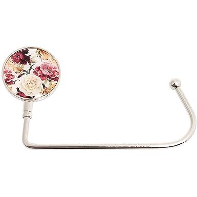 Purse Hook Womens Lightweight Handbag Purse Hanger Bag Holder for Tables /& Desks w//Gift Bag Included by SilverHooks