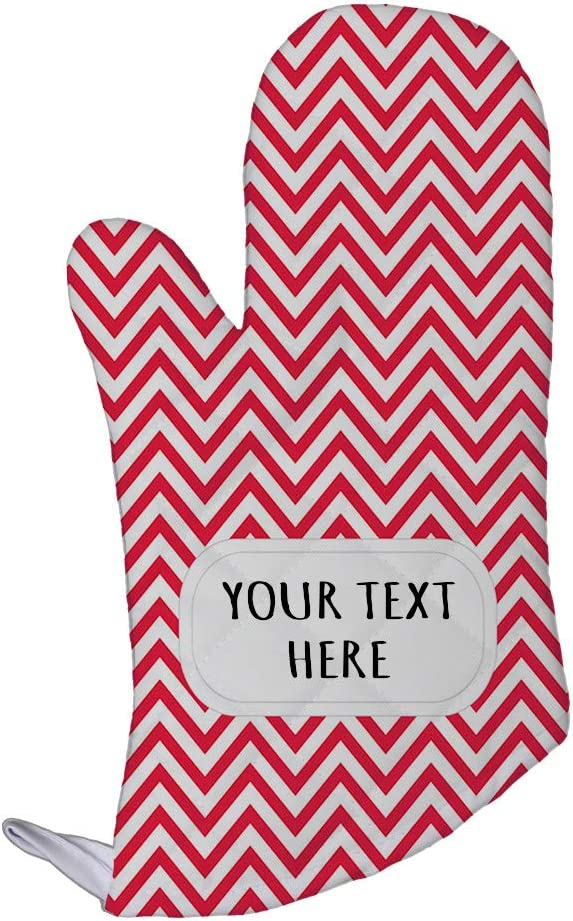 Style In Print Polyester Oven Mitt Custom Chevron 10 Pattern Red White Adults Kitchen Mittens