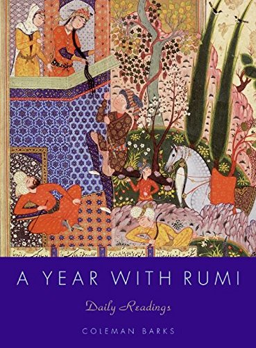 A Year With Rumi Daily Readings book cover. #rumi #sufipoetry #sufipoet #rumibooks