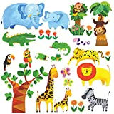 Decowall, DM-1409, Tropical Jungle Large peel & stick Nursery wall decals stickers