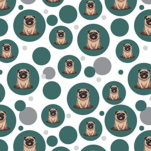 GRAPHICS & MORE Pug Sticking Out Tongue Premium Gift Wrap Wrapping Paper Roll - Happy Birthday Pug