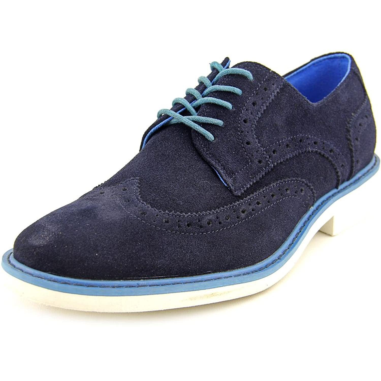 Adan Charles Men Wingtip Toe Synthetic Blue Oxford