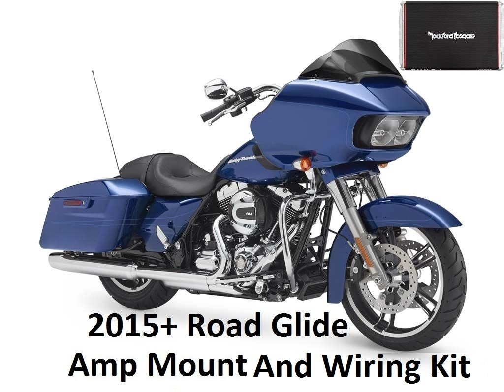 2015 And Newer Road Glide Amplifier Wiring Mounting Kit For Rockford Fosgate Pbr400x4d Or Pbr300x2