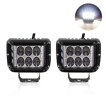 AOLVO - Barra de luz LED (2 Unidades, luz antiniebla LED de 45 W