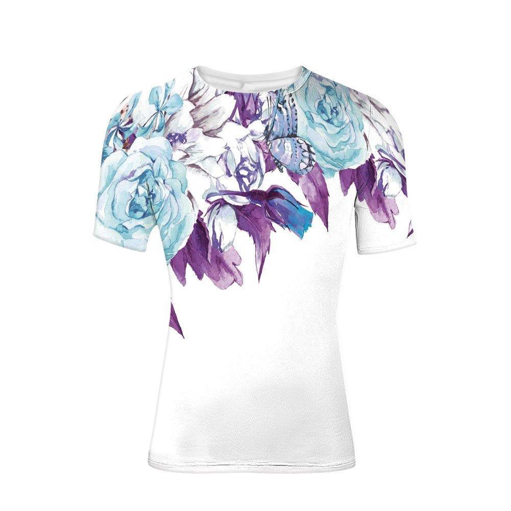 Tee Shirts Tops,Petals Bridal Wedding Romance Shabby Chic Design,Mens 3D Print
