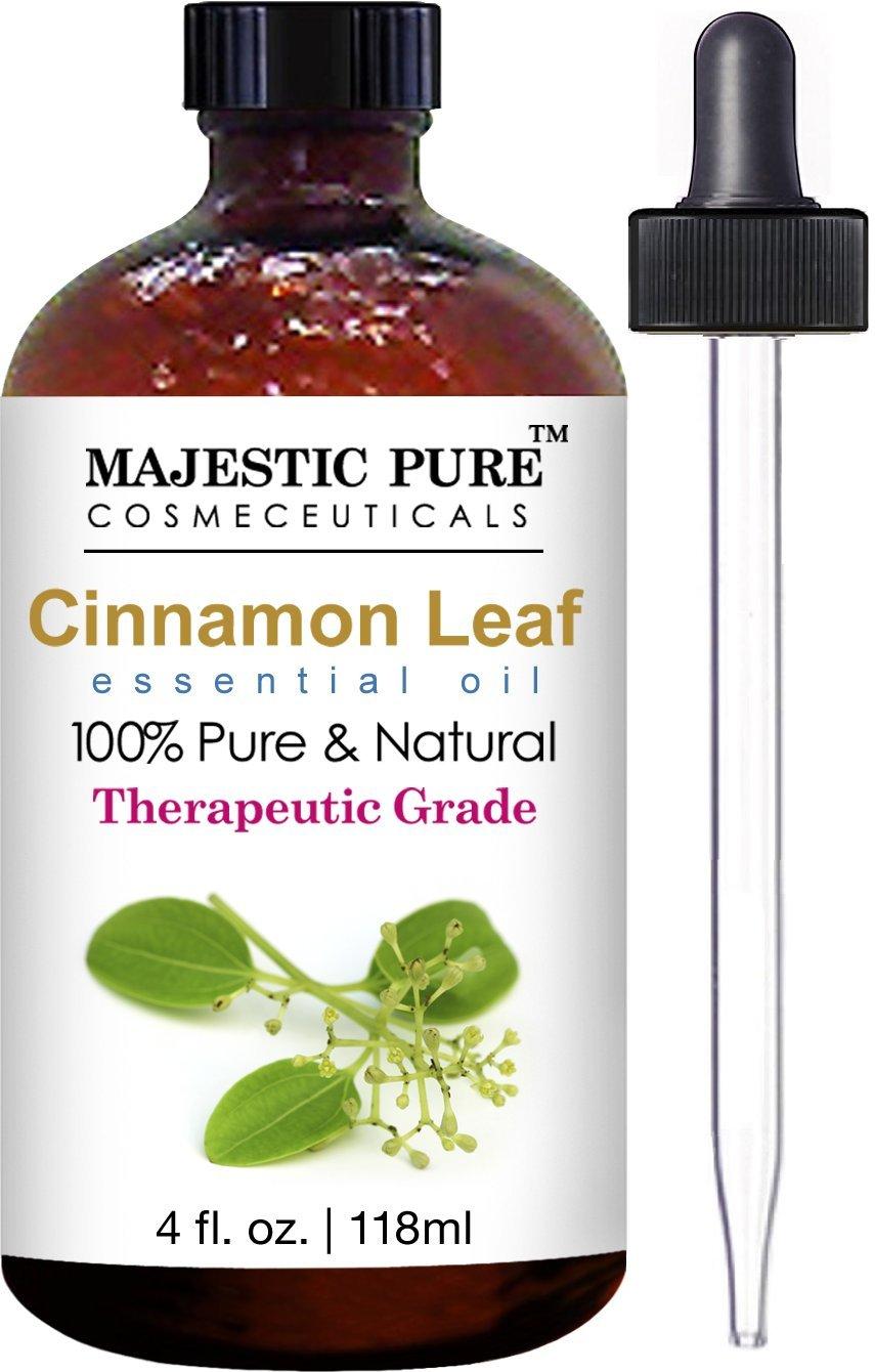 Majestic Pure Cinnamon Essential Oil, Pure and Natural with Therapeutic Grade, Premium Quality Cinnamon Oil, 4 fl. oz.