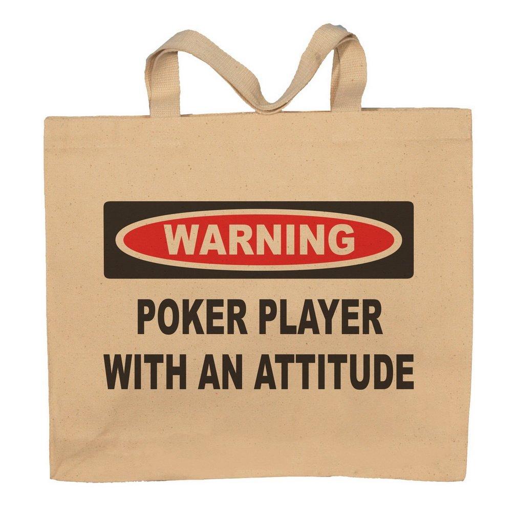 Poker Player With An Attitude Totebag Bag