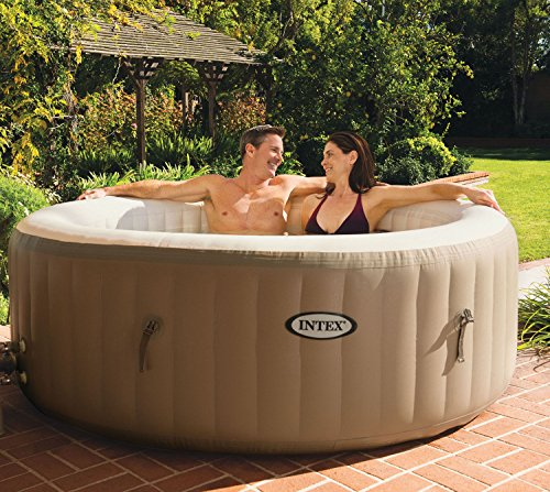 Hot Tub | 28403EIntex-PureSpa-4-Person- Inflatable-Bubble- Jet-Spa-Portable