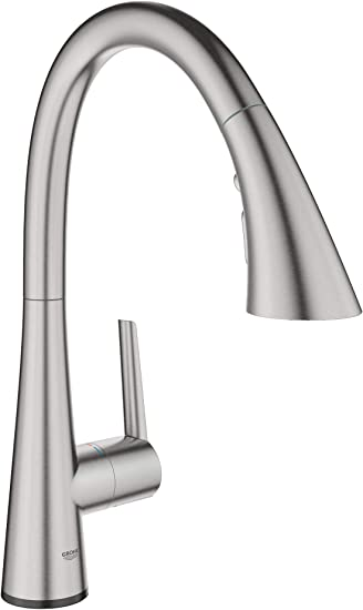 Grohe 30205dc2 Ladylux L2 Touch Single Handle Pull Down Triple Spray Kitchen Faucet In Supersteel Amazon Com