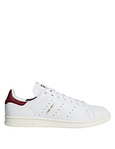 adidas Unisex Shoes Low Sneakers CQ2195 Stan Smith Size 38 2-3 Bianco /Bordeaux
