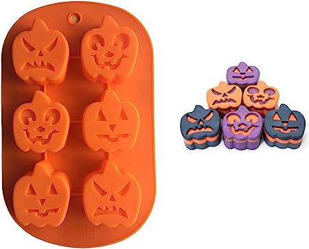 Caramelle Large Cioccolato Mooyod Biscotti per Torte Stampo Tridimensionale in Silicone a Forma di Zucca di Halloween