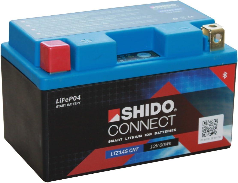 Batterie Shido Connect Lithium Ltz14s Cnt Ytz14s 12v 11 2ah Maße 150x87x110 Auto