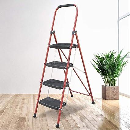 4-Paso de Acero Escalera, Plegable telescópica Paso Stool, Cocina escaleras de Tijera, Escalera de Servicio Pesado con peldaños Antideslizantes, 150KG Capacidad MAX: Amazon.es: Electrónica