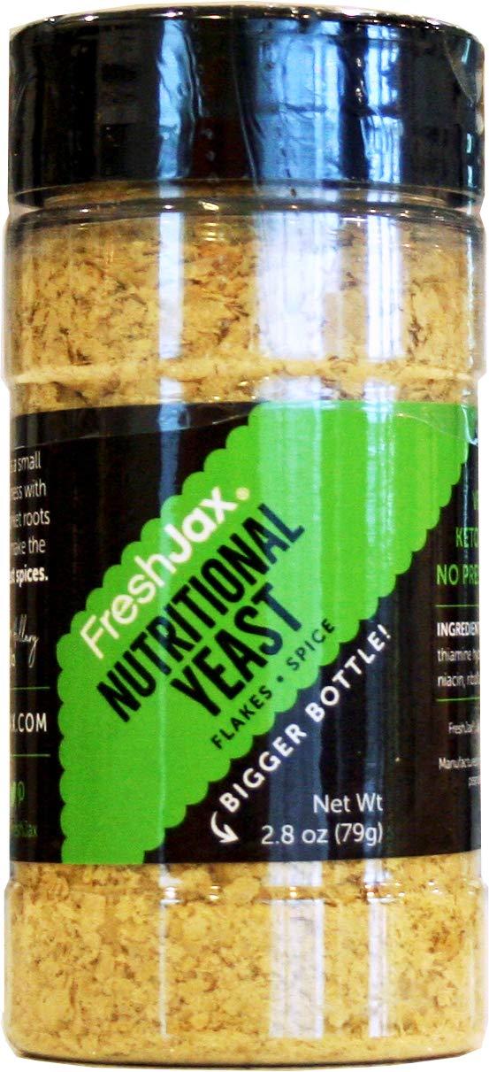 FreshJax Premium Spices, Herbs, Seasonings, and Salts (Nutritional Yeast - Large Bottle)