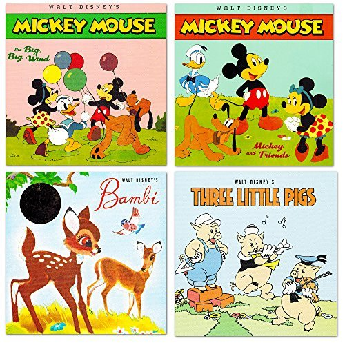 Collection Toddler (Disney Classics - Super Set of 5 Baby Toddler Storybooks (The Lion King, 101 Dalmatians, Minnie Red Riding Hood, Bambi, 3 Little Pigs))