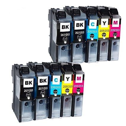 colour-store 10 Pack cartucho de tinta compatible LC203 XL LC-203 ...