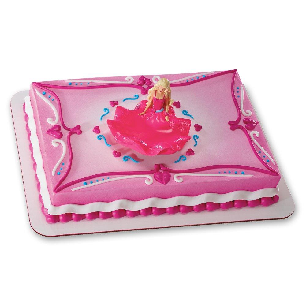 Amazon.com: Decopac Barbie Charm DecoSet Cake Topper, Caucasian ...