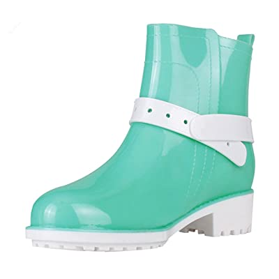 Luise Hoger Pvc Rubber Shoes Female Waterproof Rainboots Warm Women Rain Boots Sky Blue 6