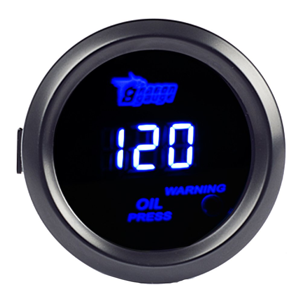 Etopars/&Trade; 2 52mm Black Car Auto Digital Blue LED Light Water Temp Temperature LED Gauge Meter