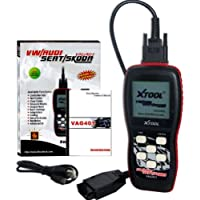 XTOOL VAG401 Live Data OBD2 Auto Scanner for VW, Audi, Seat and Skoda with Oil Reset, Airbag Reset and Actuation Test Function