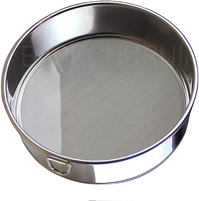 Auxsoul Flour Sieve Baking Shaker Sieve Cup Stainless Steel Convenient Manual Flour Sifter Sieve Strainer Kitchen Cooking Baking Tool