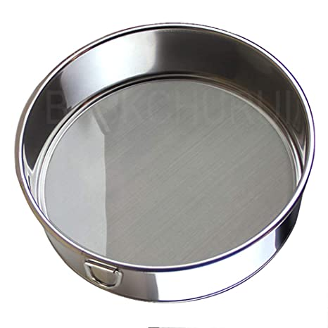 Flour Sifter for Baking - Flour Sieve Fine Mesh (6 Inch 60 Mesh) - Premium Rustproof Stainless Steel