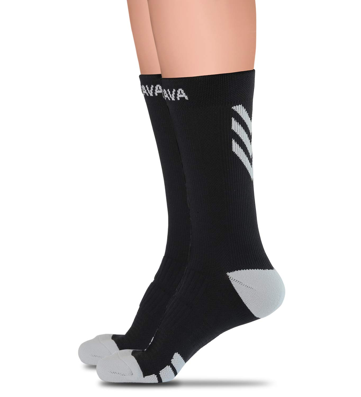 Dovava Dri-tech Compression Crew Socks 15-20mmHg (2/3 Pairs) Athletic Running Cushion Sock