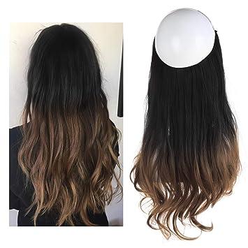 Amazon Com Ombre Hair Extension Black To Medium Ash Brown Bayalage