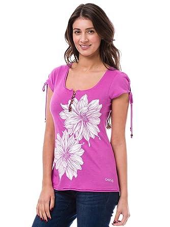 Animal Womens Womens Amberlynn Graphic T-Shirt in Berry - 6