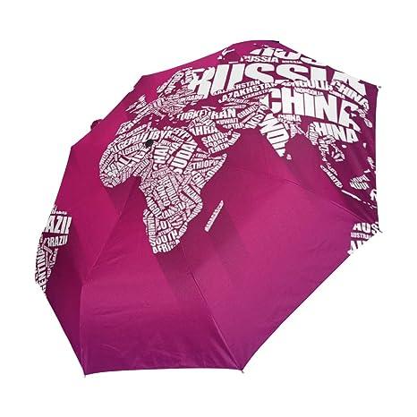 XiangHeFu Paraguas Palabra en la Nube y Mapa del Mundo, Cierre ...