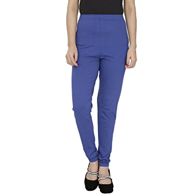 Anekaant Women's Royal Blue Cotton Lycra Legging (Size : Free) at Amazon Women's Clothing store