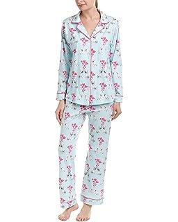 b049dd71e803 BedHead Women s Short Sleeve Classic Cropped Pants Two-Piece Pajama ...