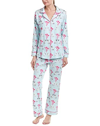 BedHead Women s Long Sleeve Classic Knit Two-Piece Pajama Set at Amazon  Women s Clothing store  4c8e105ba