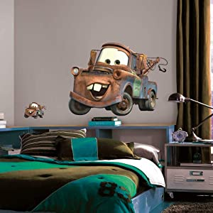 RoomMates Disney Pixar Cars Mater Peel and Stick Giant Wall Decal,Mater Giant