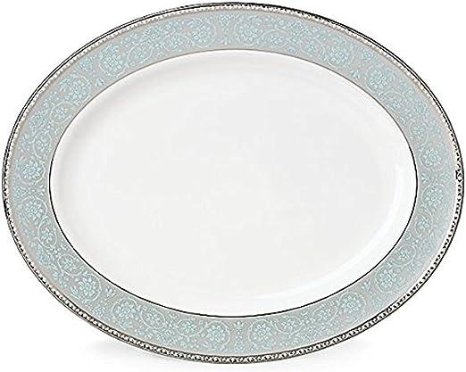 White Lenox 858270 Westmore Oval Platter