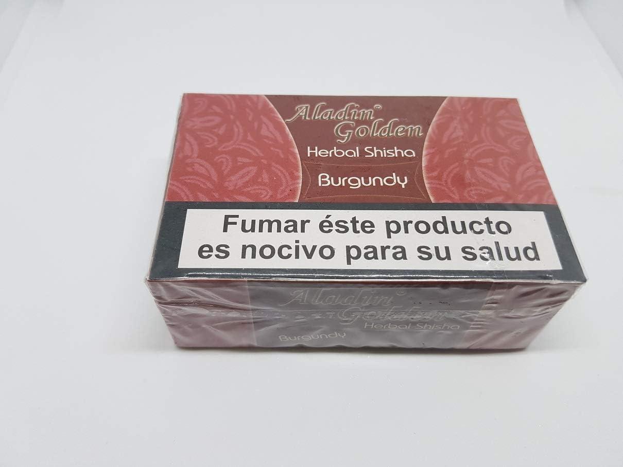 Aladin Golden Herbal Shisha Tabaco sin nicotina para Cachimba 200 g Varios sabores (melaza)