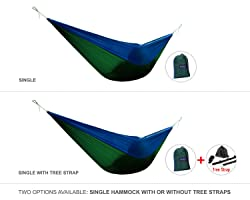 Yes4All Double and Single Hammocks- Ultralight Portable Nylon Parachute Hammock