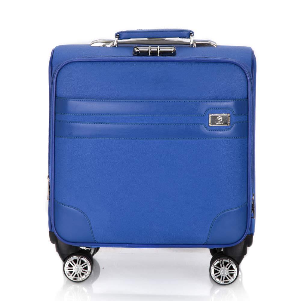 スーパーライトウェイトトラベルキャビン手荷物スーツケース(4輪)、ビジネストロリーケース(ラップトップコンパートメント付)、ほとんどの航空会社のキャビンサイズ(18インチ)で承認されています。  Blue B07KT4FZGM