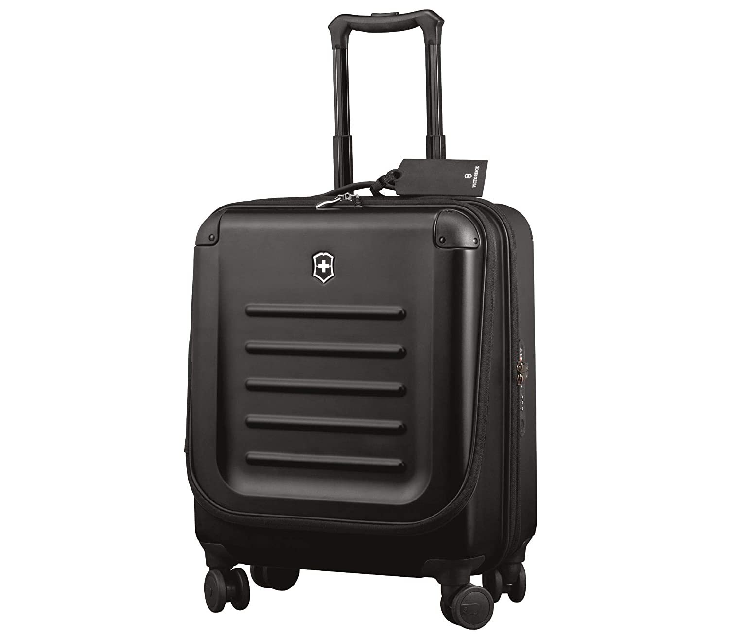 Victorinox Spectra 2.0 Extra Capacity Dual-Access Carry-On Hardside Spinner Suitcase, 21-Inch, Black