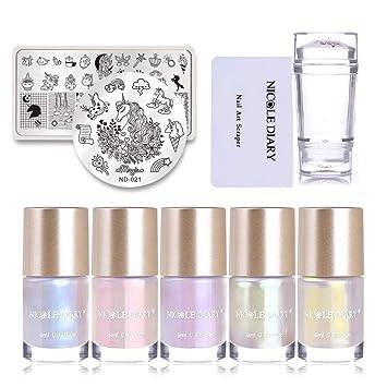 Amazon.com: Nicole agenda 5 colores sirena de uñas de juego ...