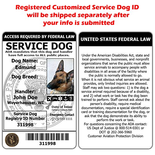 Activedogs Service Dog Kit Airtech Mesh Service Dog Vest Harness + Free Registered Service Dog ID + Clip-on Bridge Handle + 30 ADA/Federal Law Cards + Service Dog Travel Tag (L, Blue) by Activedogs (Image #5)