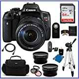 Canon EOS Rebel T6i DSLR Camera with EF-S 18-135mm f/3.5-5.6 IS STM Lens (USA) + 64GB SDXC Class 10 Memory Card + 59 Tripod + Telephoto & Wide Angle Lenses ......