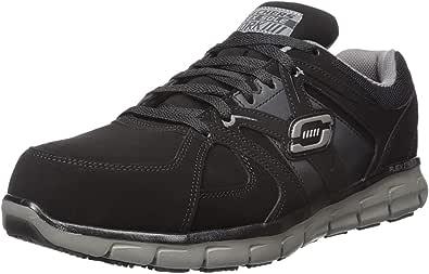 Skechers for Work Men's Synergy Ekron Walking Shoe,Black Charcoal,9.5 M US