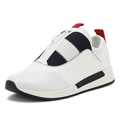 d7205b5b Tommy Hilfiger Mens White Icon Sport Flexi Trainers-UK 6.5: Amazon ...