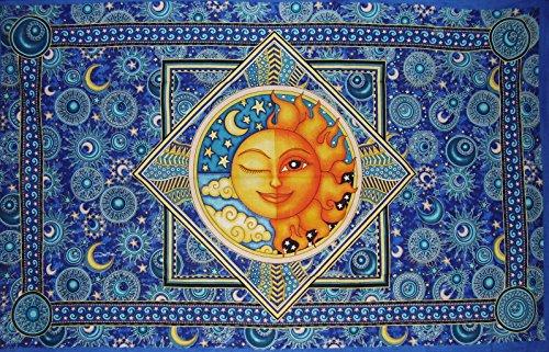 Morris Cotton Tapestry - Benjamin International Dan Morris Sun Moon Tapestry Cotton Wall Hanging 86