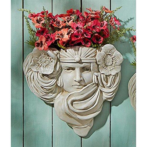 Design Toscano Art Nouveau Mystic Maiden Wall Pocket Planter Sculpture ()