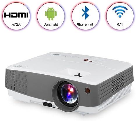 Wifi Proyector Bluetooth portátilcon Android HDMI USB VGA AV ...