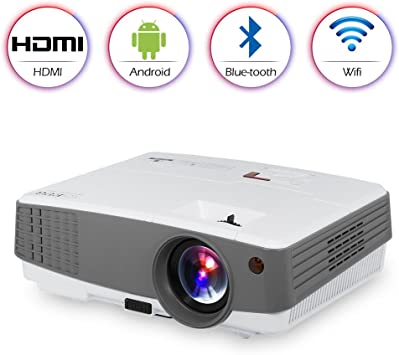HD Home WiFi Projector Bluetooth portátil, Mini LED Bluetooth ...